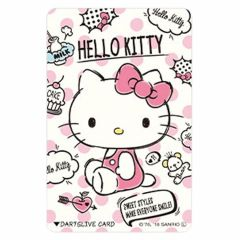 """Limited"" Sanrio Characters DARTSLIVE card - Hello Kitty Pink"