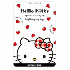 """Limited"" Sanrio Characters DARTSLIVE card - Hello Kitty White"