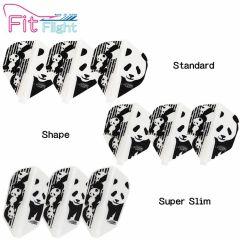 """Fit Flight"" COSMO DARTS Printed Series Panda [Standard/Shape/Super Slim]"