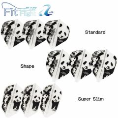 """""""Fit Flight AIR"""" COSMO DARTS Printed Series Panda [Standard/Shape/Super Slim]"""