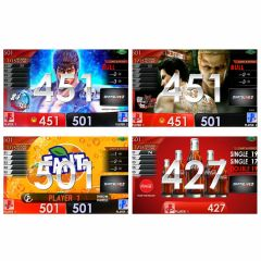 """Limited"" Fist of the North Star(北斗神拳) & Fanta & coca-cola APP & Ryu-ga-gotoku kiwami2 movie Themes DARTSLIVE card"