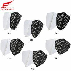 """Fit Flight Pro"" Cosmo darts S-Type [White/D Black]"