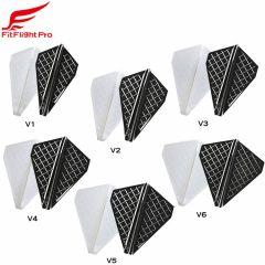"""Fit Flight Pro"" Cosmo darts  V-Type [White/D Black]"