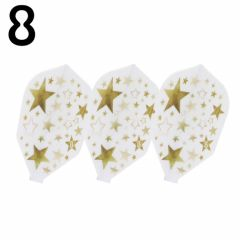 """8 FLIGHT"" GOLD STAR White [Shape]"