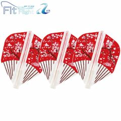 """Fit Flight AIR"" COSMO DARTS Design Contest Japanese Paper Fan [Shape]"