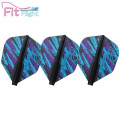 """Fit Flight"" COSMO DARTS Design Contest Purple&Blue Pattern [Shape]"