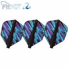 """Fit Flight Air"" COSMO DARTS Design Contest Purple&Blue Pattern [Shape]"