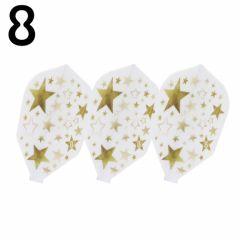 """""""8 FLIGHT"""" GOLD STAR White [Shape]"""