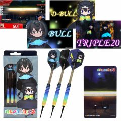 """Limited"" ""Dartslive"" 動物朋友2 darts set 「Gothic×Luck Ver.」[2BA]"