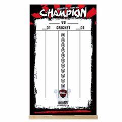 """One80"" Dry Wipe Whiteboard Scoreboard (50cmx30cm) Champion"