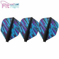"""Fit Flight"" COSMO DARTS Design Contest Purple&Blue Pattern [Shape]"