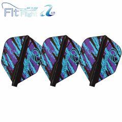 """Fit Flight Air"" COSMO DARTS Design Contest Purple&Blue Pattern [Shape]"
