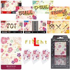 """DARTSLIVE"" L-Flight PRO Special Pack CARD [Sakura(櫻)]"
