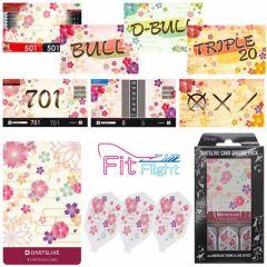 """DARTSLIVE"" Fit Flight Special Pack CARD  [Sakura(櫻)]"