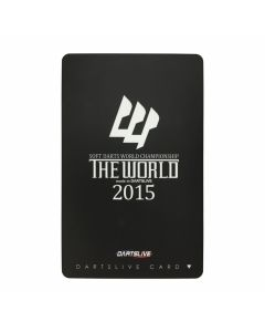 """Limited"" Discontinued DARTSLIVE card  THE WORLD 2015-1"