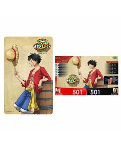 """Limited"" One Piece DARTSLIVE card 2019 - Luffy 20th"