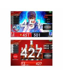 """""""Limited"""" Fist of the North Star(北斗神拳) & coca-cola APP movie Themes DARTSLIVE card"""