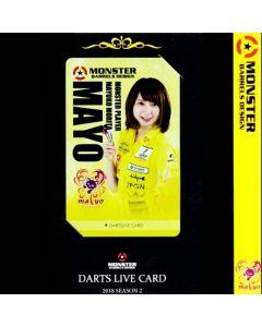 """Card"" ""Monster"" 森田真結子(Mayuko Morita) DARTSLIVE card 2018 SEASON2"