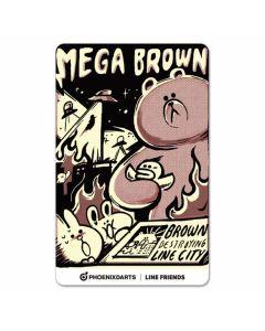"""Card"" PHOENicA LINE Friends3 Phoenix Card MEGA BROWN"