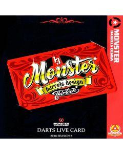 """Card"" ""Monster"" MONSTER DARTSLIVE card 2018 SEASON2"