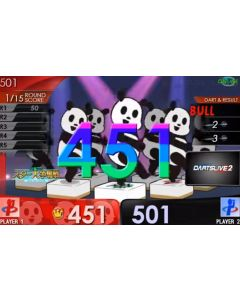 """Limited"" Mah-jong LIVE New Panda movie Themes DARTSLIVE card"