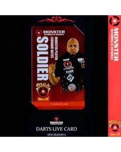 """Card"" ""Monster"" Leonard Gates DARTSLIVE card 2018 SEASON2"