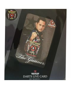 """Card"" ""Monster"" Lourence G. Ilagan DARTSLIVE card 2017 SEASON1"