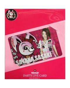 """Card"" ""Monster"" 佐々木沙綾香(Sayaka Sasaki) DARTSLIVE card 2018 SEASON1"