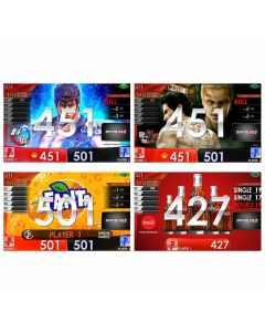 """Limited"" Fist of the North Star(北斗神拳) & Fanta & coca-cola APP & Ryu-ga-gotoku kiwami2 movie Themes DARTSLIVE card"