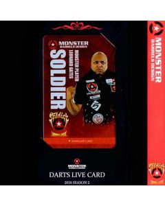 """Card"" ""Monster"" Leonard Gates DARTSLIVE card 2018 SEASON2"